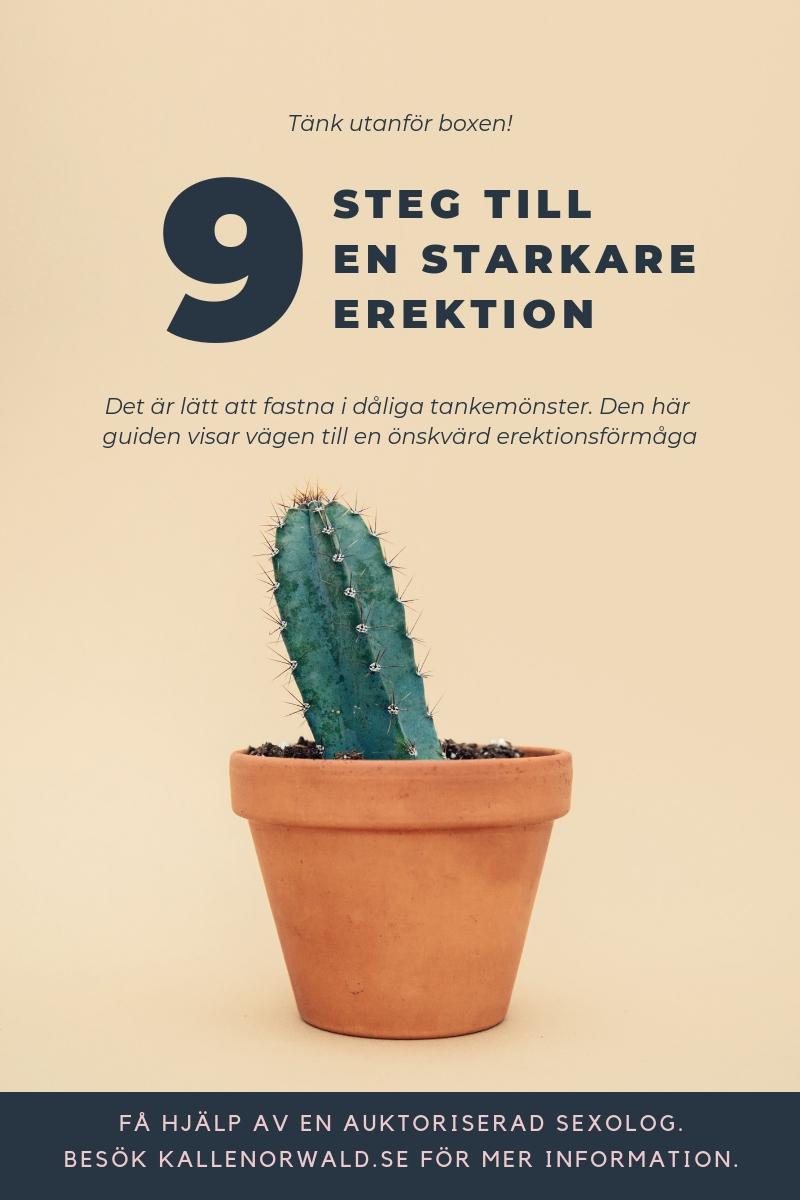 9 steg till en starkare erektion