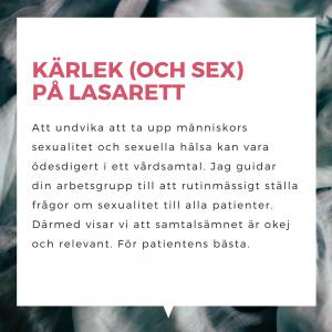Kalle Norwald föreläser om sexualitet i sjukvården